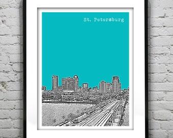 St. Petersburg Florida Skyline Poster Art Print  Image Version 2