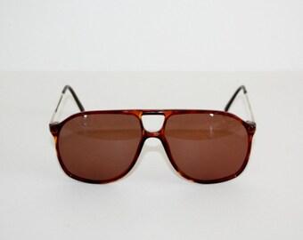 Vintage Sunglasses True 1980's Vintage TERRI BROGAN mod 86/6 Aviator Double Bridge NOS