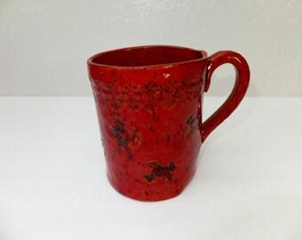 Red Skulls and Crossbones Ceramic Coffee Mug