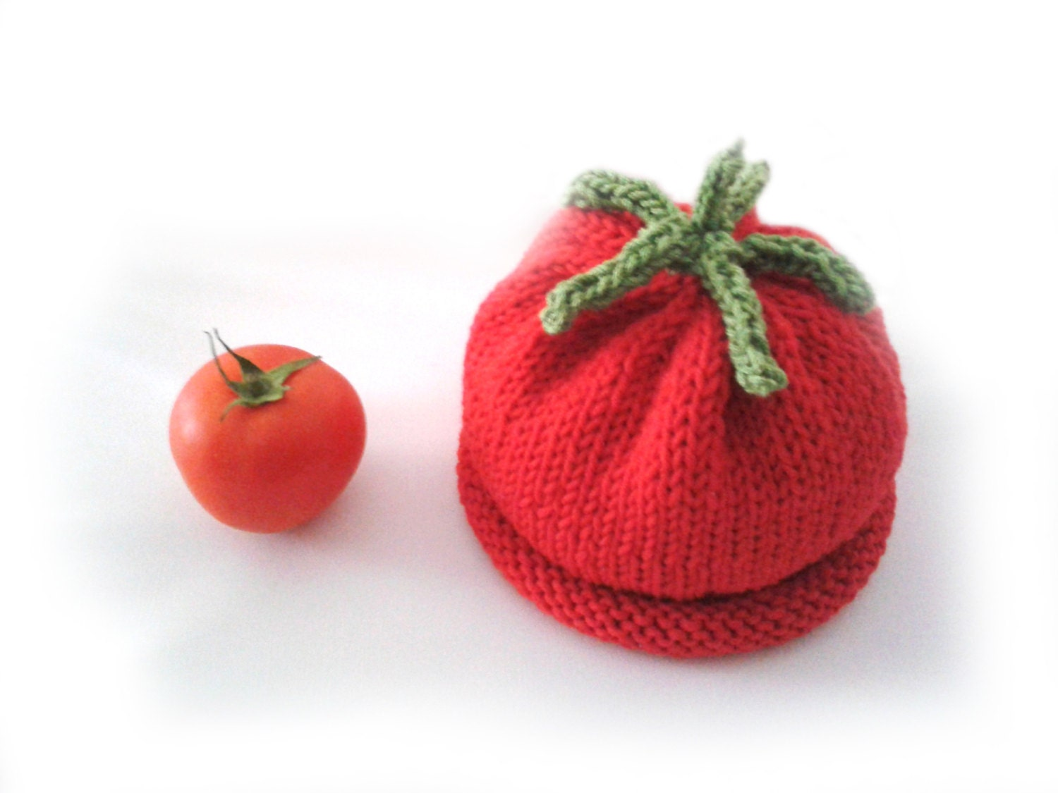 Instant download Knitting PATTERN for baby tomato hat PDF