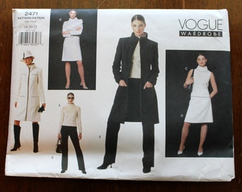 Vogue 2471 Size 18, 20, 22 Uncut: Misses' Jacket, Dress, Top, Skirt and Pants Sewing Pattern