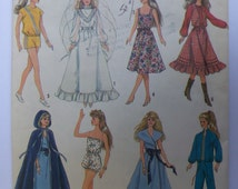 "Vintage 1987 Simplicity 8333 BARBIE / DARCI Wardrobe Pattern for 11 1/2"" or 12 1/2"" UNUSED"