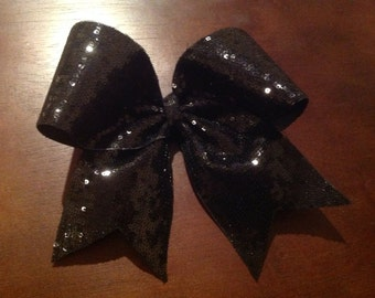 Black sequin Cheer Bow