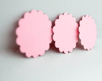 50pcs Blush pink flower tags, pink gift tags, baby pink hang tags, pink wedding tags, pink flower tags, pink paper tags, flower favor tags