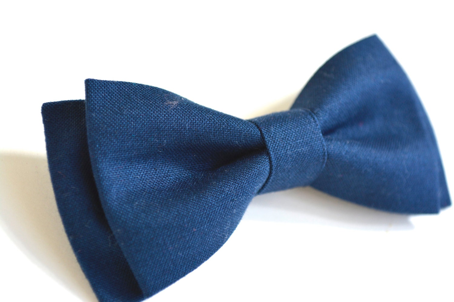 Navy Blue Bow Tie For Kids Clip On Bow Tie For Kids