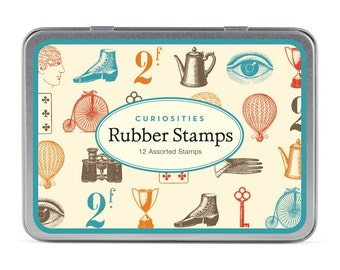 Vintage Curiosities rubber stamp set, Cavallini