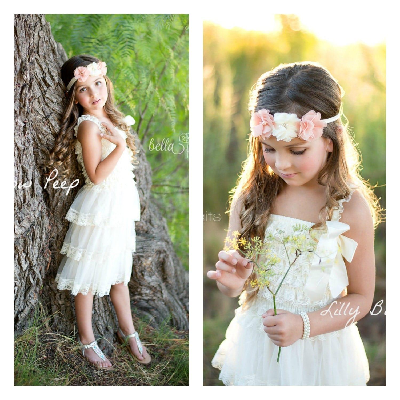 Flower Girl Dress Baptism Dress Lace Dress Baby by