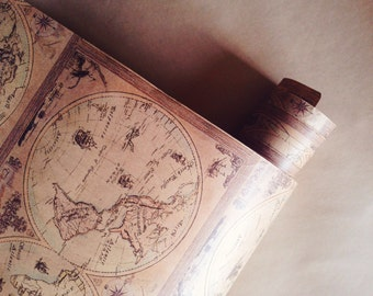 Old World Map Wrapping Paper (30ft)