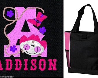 PERSONALIZED Cowgirl hat Tote Bag diaper baby beach   New FREE SHIPPING