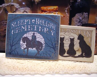 Sleepy Hollow Miniature Wooden Plaque