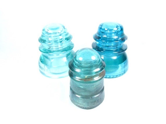 glass insulator vintage power line insulators glass decor