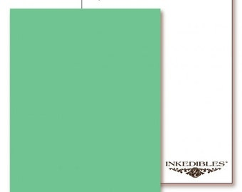 Inkedibles Premium Frosting ChromaSheets: 5 pack Letter Size (Pastel Green)