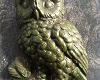Owl Wall Decor Vintage Bird Plaque DIY Owl