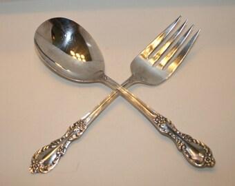 WM Rogers Silver, WM Rogers Silver Serving Fork and Spoon, Vintage WM Rogers Fork and Spoon, Silver Wedding Present, Engagement, Christmas