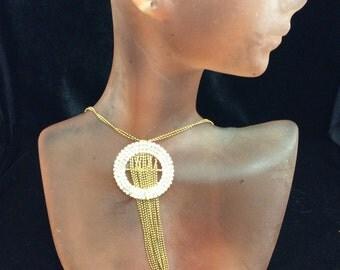 Vintage Double Stranded Rhinestone Necklace