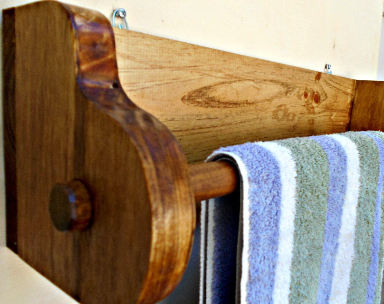 free shipping wood towel rack rustic bath towel rack. Black Bedroom Furniture Sets. Home Design Ideas