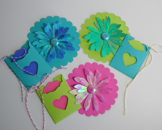 """Gift Tags Gift Wrap Decoration Die Cut - 3 Sets - """"A"""""""