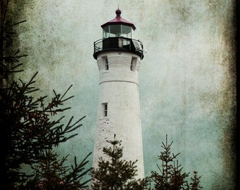 Art, Photography, Wall Art, Nature, Home Decor, Fine Art Print, Superior, Lake Superior,Art,Lighthouse, Crisp Point LIghthouse, Superior Art