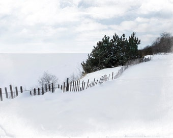 Michigan Photography, Nature Photography, Nature Wall Art, Lake Michigan, Snow,Fine Art Prints, Winter Photography, White,Winter Prints, Art
