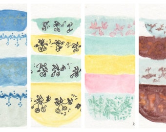 Pyrex Inspired Watercolors Your Choice