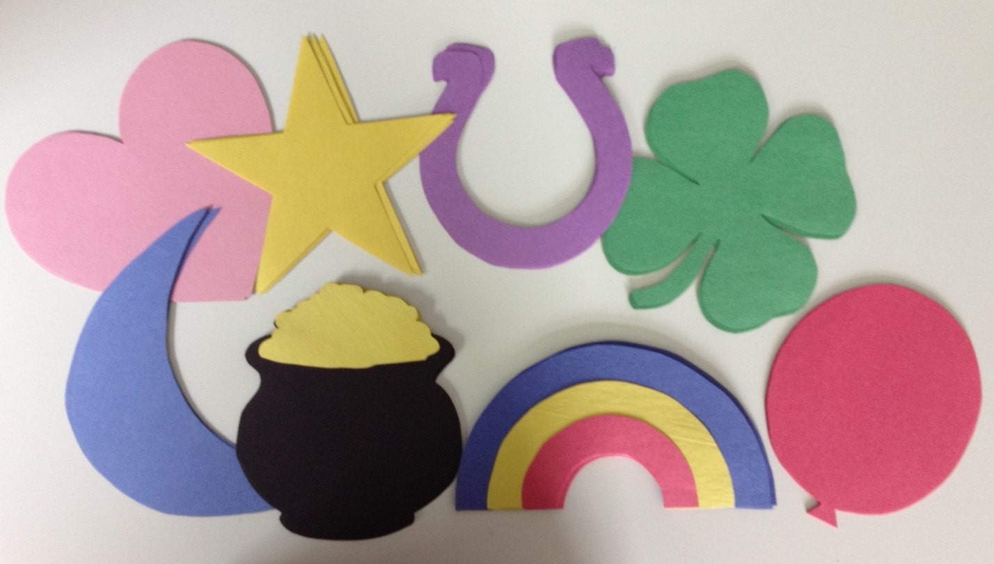 48 lucky charm door decorations 8 different shapes