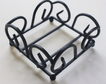 Square Wrought Iron Coaster Holder