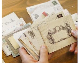 12pcs per set Vintage Paper Flat Envelopes (KE002)