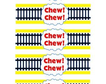 Chew Chew Napkin Rings - Train Themed