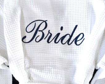 Bridesmaid Robe Bride Robe Monogram Robe Monogram Waffle Robe Kimono Bridal Robe Bridesmaid Robes Personalized Bridesmaids Gift Embroidered