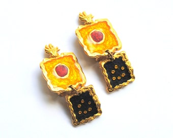 Valerie VILOINE LABBE Paris Vintage Earrings