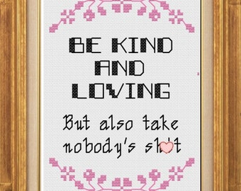 PDF pattern - Be Kind And Loving
