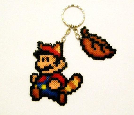 Llaveros videojuegos 8 Bits de Hama Beads ( Super Mario Bros. )