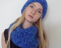 Blue Hat + col + leg warmers