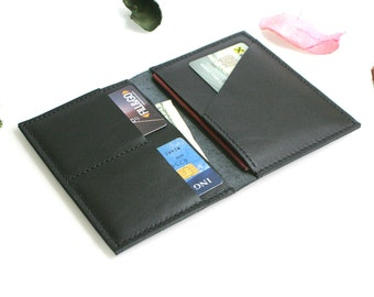 Black Leather Passport Wallet - Leather Passport  Cover- Handmade Passport cover