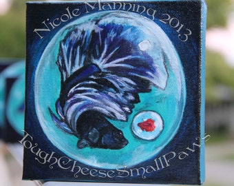 Introspection -Betta fish painting ORIGINAL