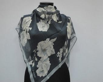 Vintage ANNE KLEIN silk scarf.....