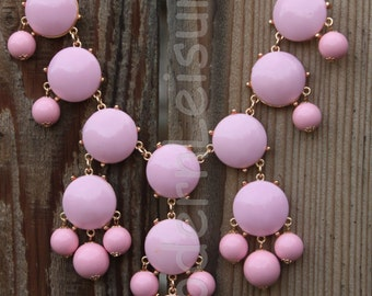 Pink statement necklace Bubble necklace for girls Bib necklace for women gift for holiday gift Beaded necklace statement jewelry