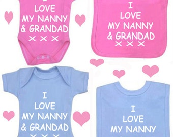 baby bodysuit i love my nanny gr andad set or design your own set baby