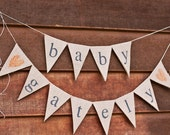 Burlap Baby Banner Large, custom surname banner, baby shower, photo prop