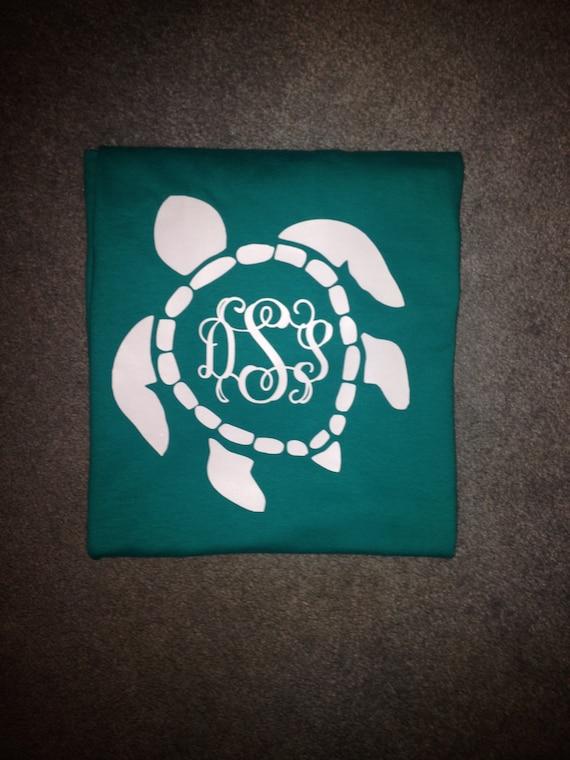 Download Sea Turtle Monogrammed T-shirt by LetsMonogramIt on Etsy