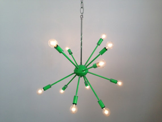 Green Sputnik Chandelier Lighting by DuttonBrown on Etsy