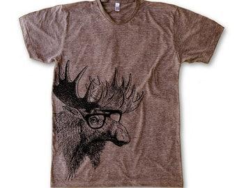 Moose Print (American Apparel Men's T-Shirt)