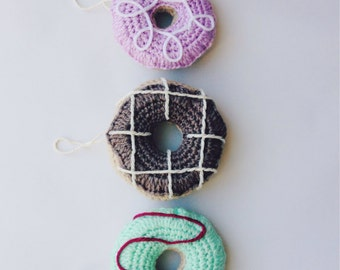 Mini Crochet Doughnut Ornament
