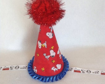 Snoopy Inspired Birthday Party Hat (Free Personalization)