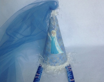 Elsa (Frozen) Inspired Birthday Party Hat (Free Personalization)