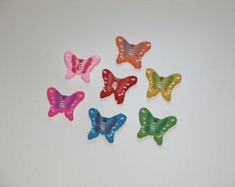 Wooden painted butterflies