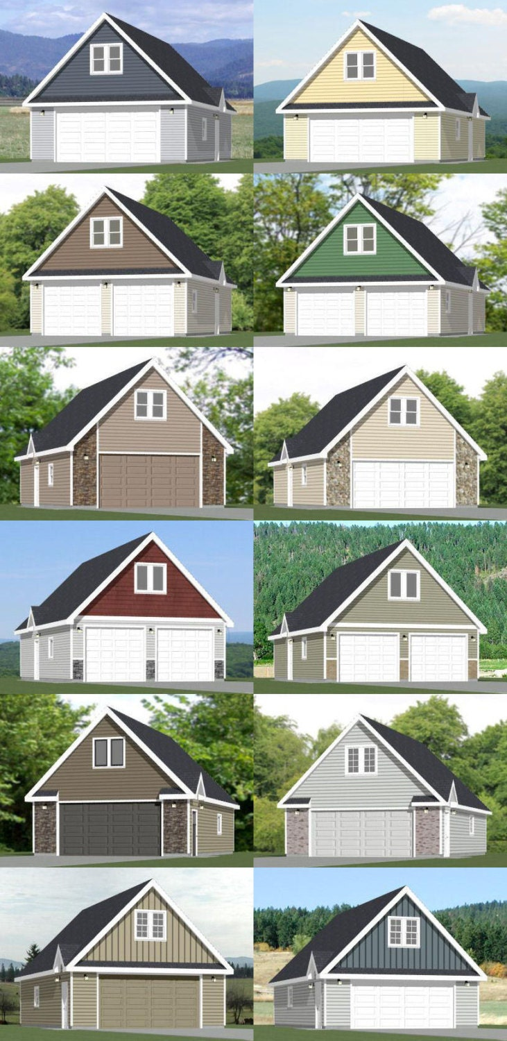 24x36 2 car garages pdf floor plans 1344 by for 24x36 garage