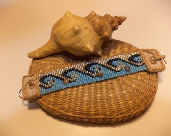 Beach Chic, Sand, Sea and Surf, Loomed Bracelet