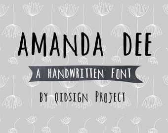 Amanda Dee Digital fonthand written fontpersonal and commercial useinstant download