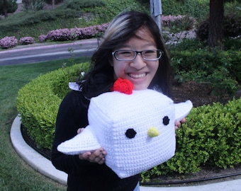 Large Cock Block Plush ( Crocheted Chicken Block )